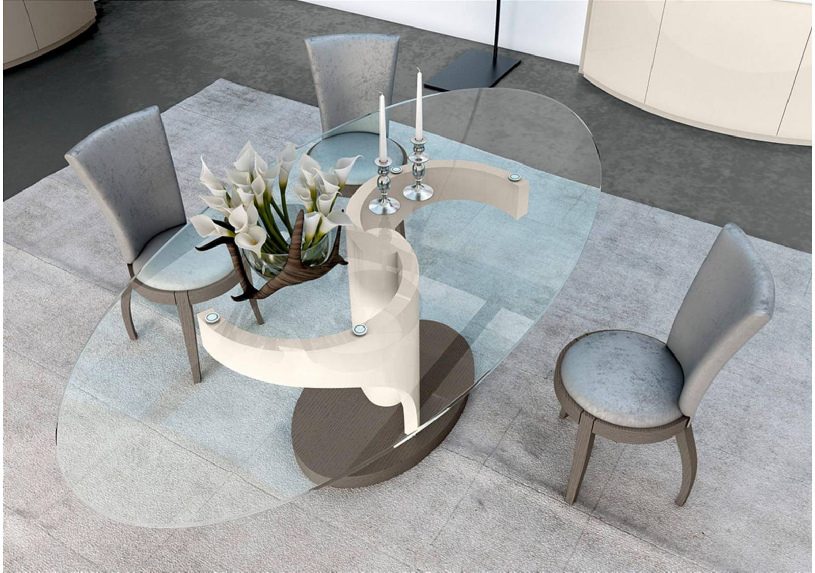Aleal Candy Dining Table Vale Furnishers