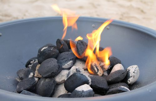 Coal burning garden fire pit
