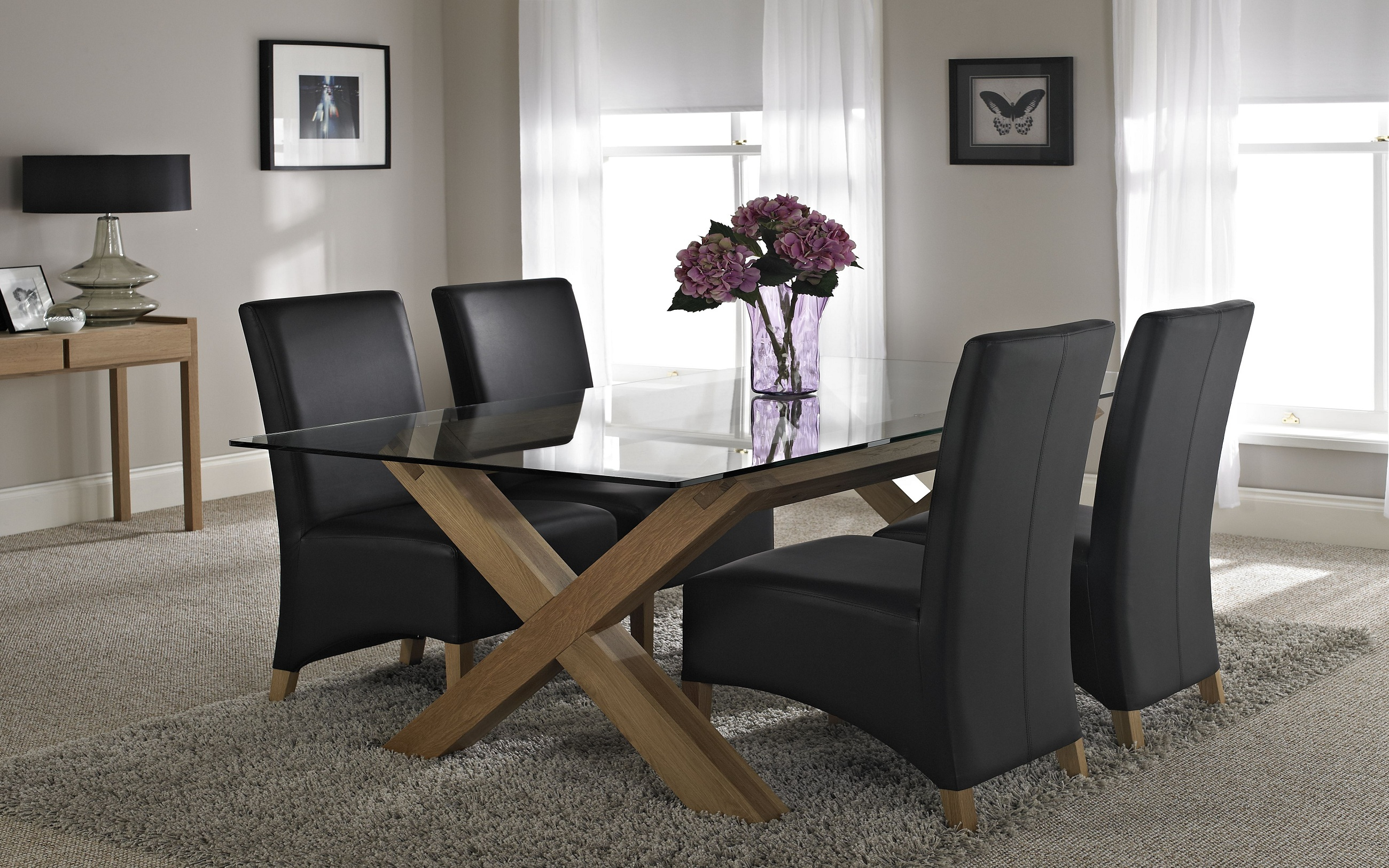 glass dining room table with leather chairs. glass dining room table with leather chairs o