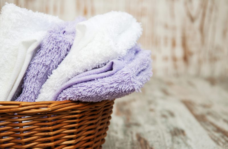 old towels home clutter