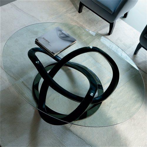 Infiinity ovale glass coffee tables