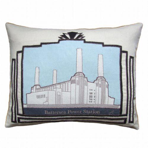 Battersea power station cushion