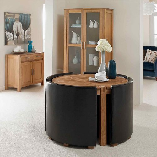 Beau Our Small Kitchen Tables Range Include The Vale Oak Round Table