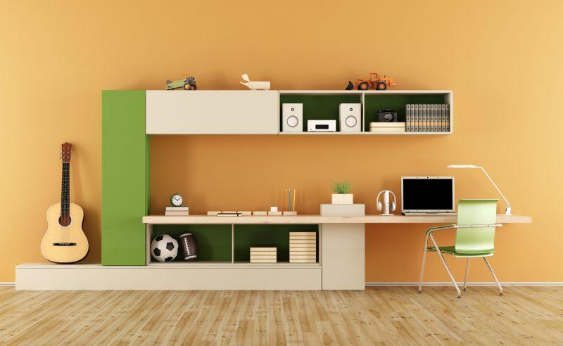 modern teenage workspace