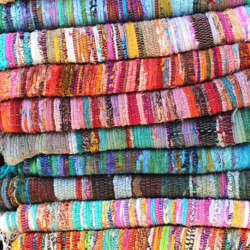 Tapis indien - fibres recycls