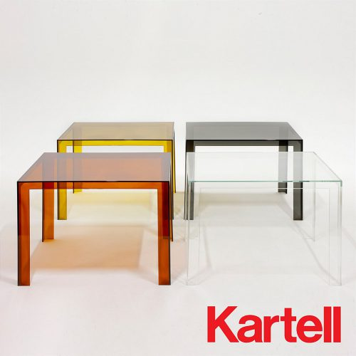 Our small kitchen tables range include the Kartell invisible dining table