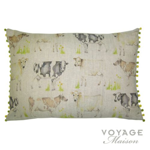 voyage maison cow field cushion