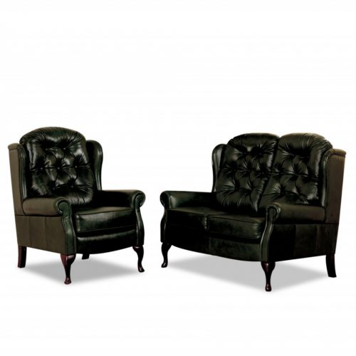 Vale Furnisher's great fireside chairs - Wentworth Fixed Leg Leather Suite