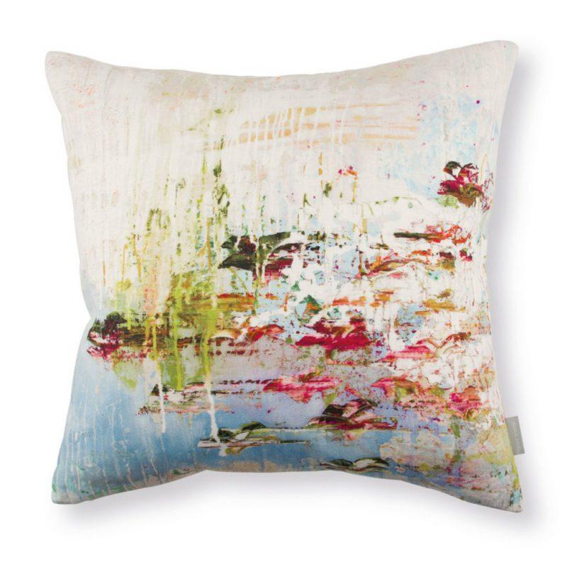 Romo fabric - Black Edition Jessica Zoob Passion 1 Cushion in Linen