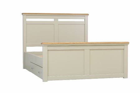 furnish small bedrooms guide-Vale Furnishers - Oliver Painted Bed Frame with Storage