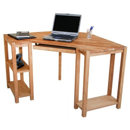 Vale Furnishers - Vale Oak Corner Desk