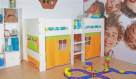 Vale Furnishers - Cole Midsleeper with curtain