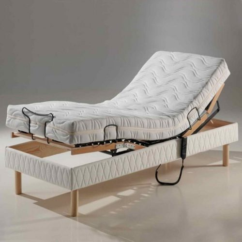 Vale Furnishers - Lincoln 3ft Adjustable Bed with Matching Headboard